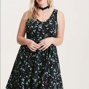 Black torrid butterfly dress size 24